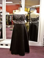 Satin Skirt with Beaded Bodice Top